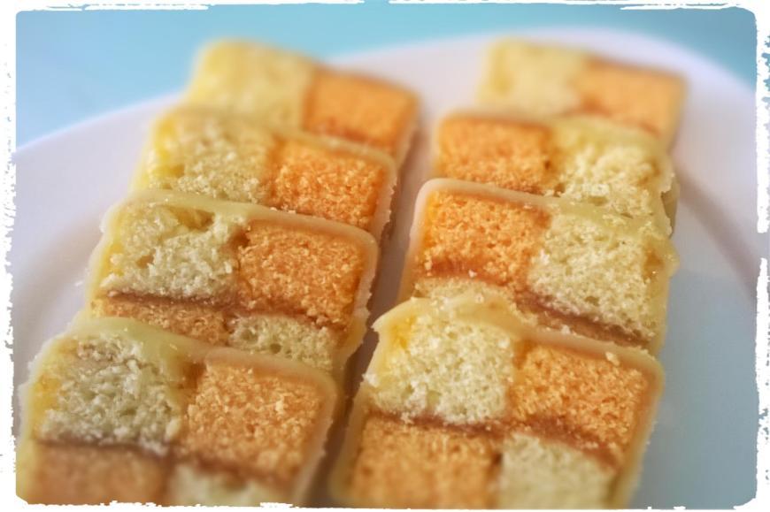 Schachbrett-Kuchen